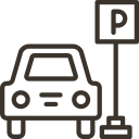 Oktágona beach Parking and transfer service